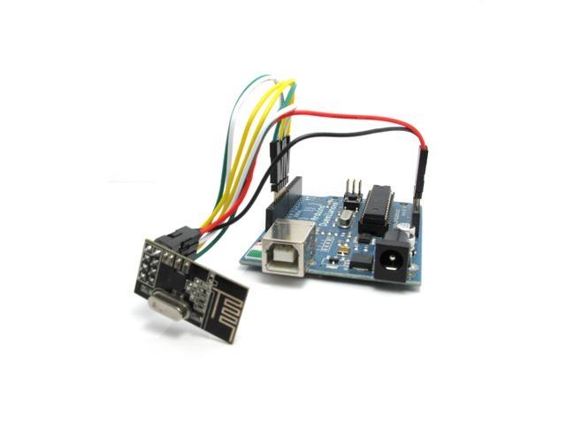 Arduino collegato al modulo nRF24L01+